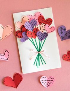 Crafts diy mother's day crafts, diy crafts for kids, crafts for Mothers Day Crafts For Kids, Valentine Day Crafts, Valentine Decorations, Diy Crafts For Kids, Homemade Valentines, Kids Valentines, Preschool Crafts, Crafts Toddlers, Fun Crafts