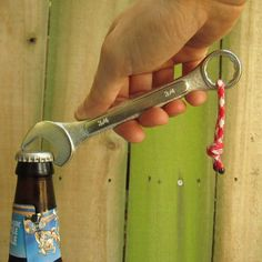 DIY Idea: Make a Wrench Bottle Opener » Man Made DIY | Crafts for Men « Keywords: bottle, beer, wrench, tool
