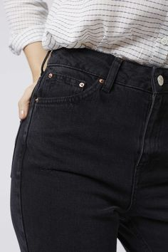 Photo 5 of MOTO Washed Black Mom Jeans