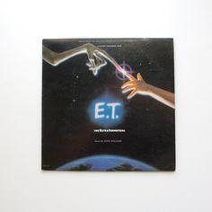 E.T. The Extra Terrestrial Original Soundtrack LP - Music by John Williams - Steven Spielberg Film by ThisCharmingManCave on Etsy  https://www.etsy.com/listing/224432133/et-the-extra-terrestrial-original