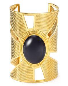 Yuwei Onyx Triangle Cutout Cuff
