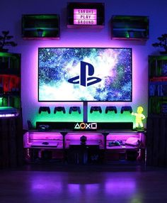 42 Fabulous Game Room Design Ideas To Try In Your Home Have you been thinking of finishing your basement? If so, you know you have multiple different paths you could take. … - Cool 42 Fabulous Game Room Design Ideas To Try In Your Home. Playstation, Xbox, Deco Gamer, Gaming Room Setup, Gaming Rooms, Cool Gaming Setups, Computer Gaming Room, Video Game Rooms, Game Room Design