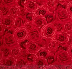 Floral Fabric Rose Fabric: Glamour  Packed Roses by Angelfabric
