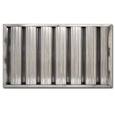 10x20x2 Furnace Air Filter  Stainless Steel Grease Baffle Filter