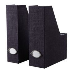 KVARNVIK Magazine file IKEA Label holder with paper included. > shelf dividers that are also storage $12.99 for pair