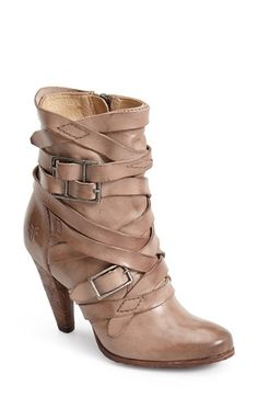 Free shipping and returns on Frye 'Mikaela' Belted Short Boot (Women) at Nordstrom.com. A fusion of rustic, Western style and moto edge blends perfectly on a burnished, round-toe bootie. Allover buckled straps and a stacked heel further the cowgirl look, while bench-crafted, quality leatherwork shows off Frye's 150-year-old heritage.