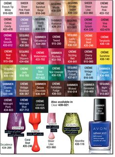 Avon nail polish colors for favors. Shop now at www.youravon.com/kimbrown