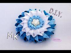 ЦВЕТОК Канзаши из атласных лент / DIY Kanzashi flower ribbon/ Djuce Julia - YouTube