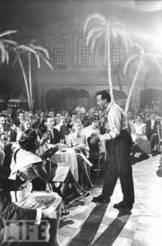 Harry Belafonte performing at The Coconut Grove. Harry Belafonte, Coconut Grove, Led Zeppelin, Rose Buds, Logo Inspiration, Dancers, Coffee Shop, The Voice