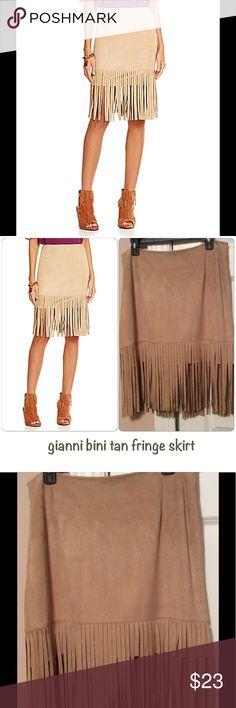 Gianni Bini Fringes Skirt gianni bini tan fringe faux suede skirt Gianni Bini Skirts Pencil