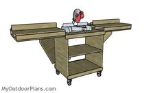 This step by step diy project is about miter saw stand plans. I have designed this miter saw stand so you can save space and make accurate cuts with your saw. Miter Saw Stand Plans, Mitre Saw Stand, Woodworking Jigsaw, Woodworking Joints, Woodworking Projects, Woodworking Store, Woodworking Videos, Garage Workbench Plans, Miter Saw Table