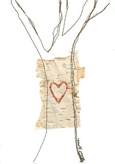 LOVE Card Heart on Birch Tree FREE Shipping in US by ACleverSpark, $8.00