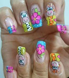 Nail Arts, Nail Art Designs, Beauty, Gorgeous Nails, Work Nails, Toe Nail Art, Short Nail Manicure, Nail Manicure, Owl Nails