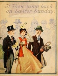 """The following images are from """"If they came back for Easter Sunday: how the famous figures of history would look as Royal Tailored men."""" The publication includes George Washington, Napoleon Bonaparte, Julius Caesar, Ulysses S Grant, Robert E Lee, Sir Walter Raleigh and Otto Von Bismarck. It was published by Royal Tailors (Chicago, IL) in 1916."""