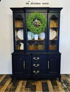 China Cabinet, Painted Furniture, Cabinet, Painted China Cabinets, Furniture, Redo Cabinets, Cabinet Decor, Cabinet Makeover, Home Decor Furniture
