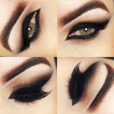 Black Cat Eyes Makeup Olho Preto