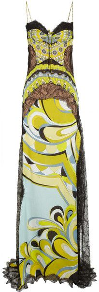 PUCCI Printed Lace and Satin Gown  dressmesweetiedarling