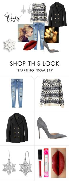 """""""Winter #3"""" by modefan2 on Polyvore featuring mode, Balmain, Gianvito Rossi et Amanda Rose Collection"""