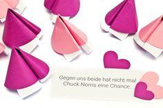 Muttertagsgeschenk selber machen. Glückskekse zum Muttertag basteln. www.miomodo.de/blog