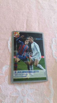 JULIANO BELLETTI Jose Maria Guti card #NN Champions League 2005 2006  #FCBarcelona
