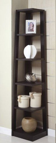 Black Color Wood Wall Corner 5 Tiers Shelves Bookshelf Case by Best Deal Stores. $175.00. Add this corner shelf to your living room or bedroom gives a classic temporary looking to your home decor!. Save 42% Off!