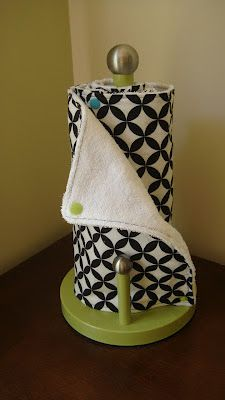 reusable paper towel tutorial... love it, but it might have to wait until i'm feeling ambitious enough to try snaps!