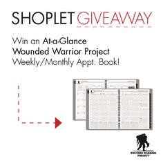 Win an AT-A-GLANCE Wounded Warrior Project Appointment Book! Repin, then go to our blog and leave us a comment about a cause that matters to you :) Good luck!