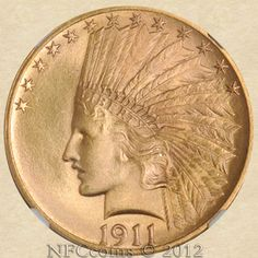 1911 Ten Dollar Gold Indian MS65 NGC, obverse