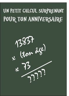 A calculation for your birthday - Birthday humor card by La Poste Rage, Funny Christmas Cards, Funny Birthday Cards, Birthday Quotes, Morning Humor, Funny Cards, Riddles, Funny Signs, It's Your Birthday