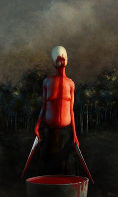 """The Gheerulla Witch"" by Rob Stanley Creepy, Scary, Dark Art Photography, Dark Creatures, Pop Art Illustration, Macabre Art, Occult Art, Dark Ages, Horror Art"