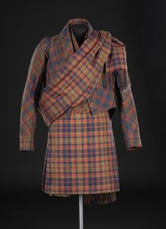 Tartan suit owned by William Blackhall of Blackfaulds, and made for King George IV's visit to Edinburgh in 1822.