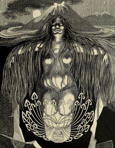 "the-cinder-fields: "" illustration from Wilhelm Dittmer's Te Tohunga, 1907 "" Eyes Artwork, Maori Designs, New Zealand Art, Hawaiian Art, Maori Art, Kiwiana, Art For Art Sake, Nz Art, Indigenous Art"