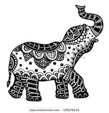 Image result for indian elephant outline