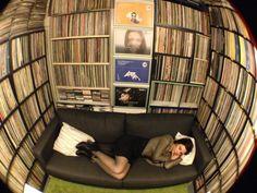 Nina Kraviz in her record room