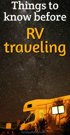 First time RV camping tips, essentials and checklists, for rental but also for RV owners. Check these camping advice for beginners that will make your motorhome trip and campervan experience more enjoyable. Rv Travel, Packing Tips For Travel, Travel Advice, Packing Lists, Travel Trailers, Travel Hacks, Travel Ideas, Camper Trailers, Travel Abroad