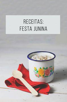 Receitas de comidas de festa junina! // palavras-chave: festa junina, folclore brasileiro, Nordeste, canjica, broa de milho, bolo de cenoura, paçoca, pé de moleque, receita fácil de canjica, Junho, festa brasileira, doce de abóbora, doce de batata doce, comida, cozinha, sobremesa.