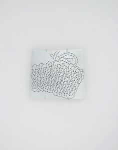 Esther Knobel -  Mind in the Hand, 2007. Brooch. Silver, iron thread
