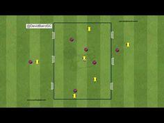 striker movement and reaction exercise. if the striker misses then the play is still alive and the first to react will get the advantage you can use your cen. Animation, Exercise, Goals, Youtube, Football Drills, Football Soccer, Ejercicio, Excercise, Tone It Up