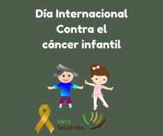 Gráfica del día internacional contra el cáncer infantil para las redes de Terra Fecundis.