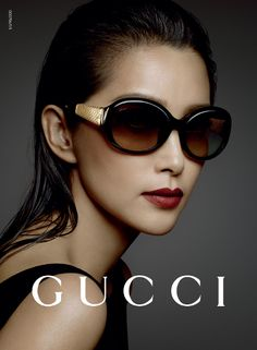 Li BingBing features in @gucci 's eye-wear ad campaign — introducing two new models Bamboo and Diamantissima #LiBingBing #Gucci #eyewear