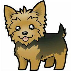 Cartoon Yorkshire Terrier