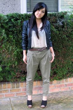 Blouse and chinos