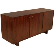 Rosewood Credenza with Three Doors