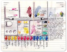 Back to Basics by Ginn Magante as soon in Art Journaling magazine. Photo via Back to School Inspiration: 15 Projects for Success.