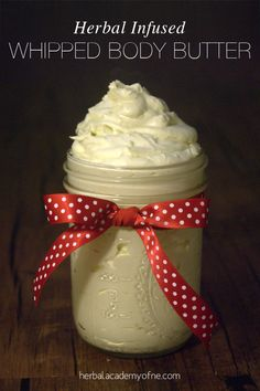 Wintertime Herbal Infused Whipped Body Butter Recipe on the Herbal Academy of New England blog
