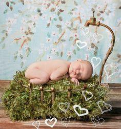 Photo Prop 'Grass' Patch Baby Blanket  by BabyBirdz