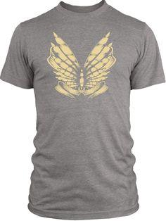 Big Texas Moth Stencil (Brown) Vintage Tri-Blend T-Shirt