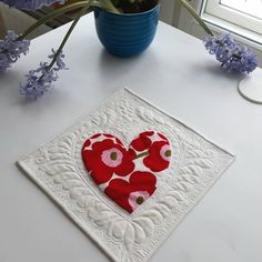 """80 Likes, 22 Comments - Irina  (@nordiccrafter) on Instagram: """"A Valentine for you - mini quilt 11×11 inches. Fabulous tutorial by Karen @redbirdquiltco for…"""""""