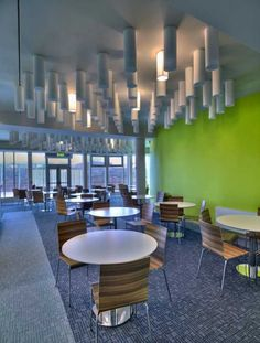 Clare County Council Headquarters by Henry J Lyons Architects - Canteen Interior Design