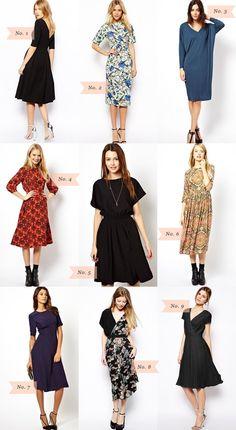 Asos Midi Dresses {Under $50}